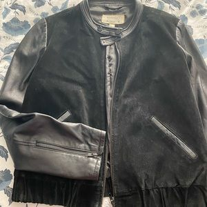 Mango leather and suede jacket